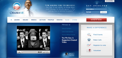 Site Web de Barack Obama