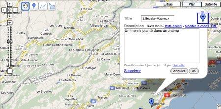Edition en ligne d'une carte