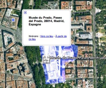 Le Prado sur Google Earth